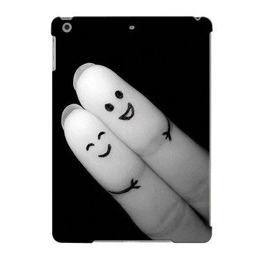 Snooky Digital Print Hard Back Case Cover For Apple iPad Air 23659 - Black