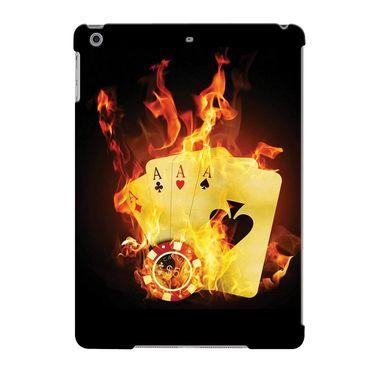 Snooky Digital Print Hard Back Case Cover For Apple iPad Air 23630 - Black