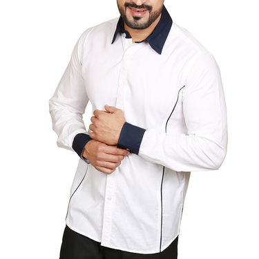 Sparrow Clothings Cotton Shirt_wjc06 - White