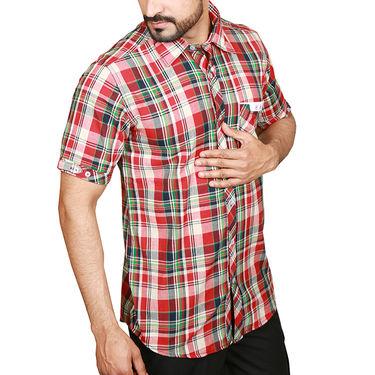 Sparrow Clothings Cotton Checks Shirt_wjc10 - Red
