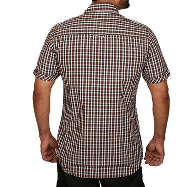 Sparrow Clothings Cotton Checks Shirt_wjc16 - Brown