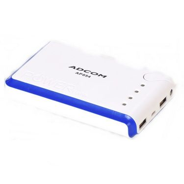 Adcom AP054 9000mAh Power Bank - White & Blue