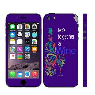 Snooky 28354 Digital Print Mobile Skin Sticker For Apple Iphone 5 - Purple