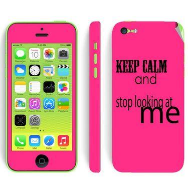 Snooky 28378 Digital Print Mobile Skin Sticker For Apple Iphone 5C - Pink