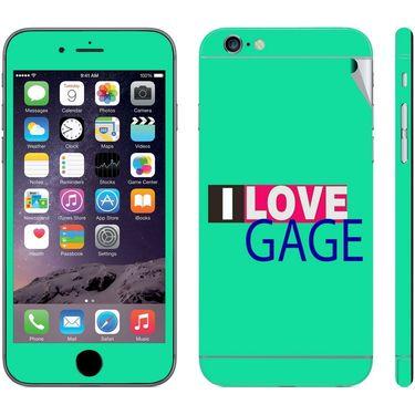 Snooky 28403 Digital Print Mobile Skin Sticker For Apple Iphone 6 - Green