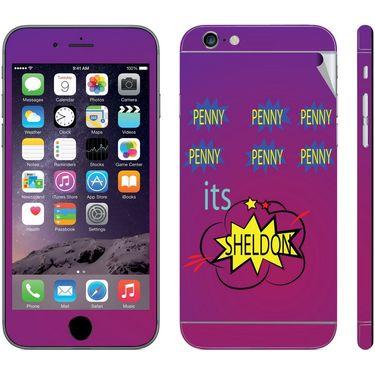 Snooky 28416 Digital Print Mobile Skin Sticker For Apple Iphone 6 - Purple