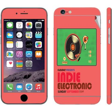 Snooky 28442 Digital Print Mobile Skin Sticker For Apple Iphone 6 Plus - Multi