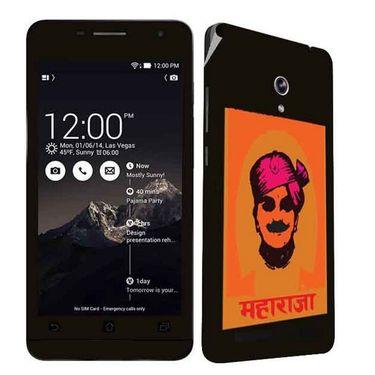 Snooky 27688 Digital Print Mobile Skin Sticker For Asus Zenfone 6 A600CG/A601CG - Black