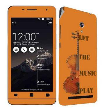 Snooky 27687 Digital Print Mobile Skin Sticker For Asus Zenfone 6 A600CG/A601CG - Orange