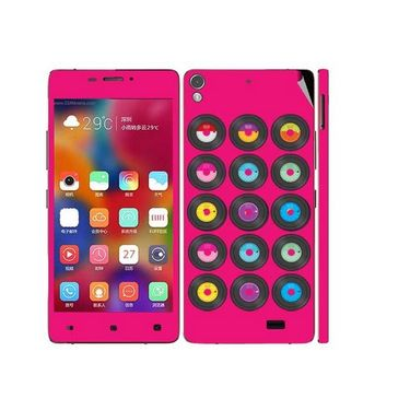 Snooky 27713 Digital Print Mobile Skin Sticker For Gionee Elife 5.1 - Pink