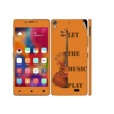 Snooky 27714 Digital Print Mobile Skin Sticker For Gionee Elife 5.1 - Orange