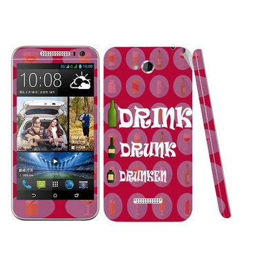 Snooky 28184 Digital Print Mobile Skin Sticker For HTC Desire 616 - Pink