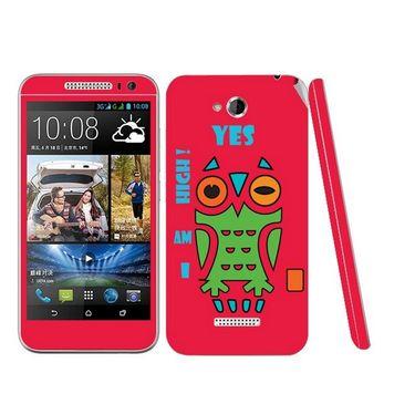 Snooky 28203 Digital Print Mobile Skin Sticker For HTC Desire 616 - Rose Pink