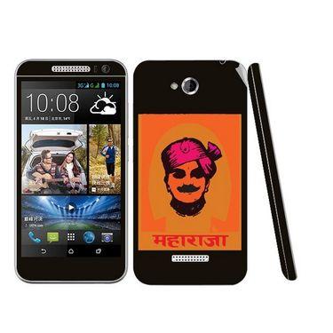 Snooky 28206 Digital Print Mobile Skin Sticker For HTC Desire 616 - Black