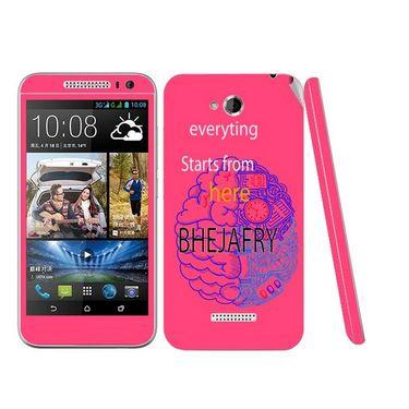 Snooky 28191 Digital Print Mobile Skin Sticker For HTC Desire 616 - Pink