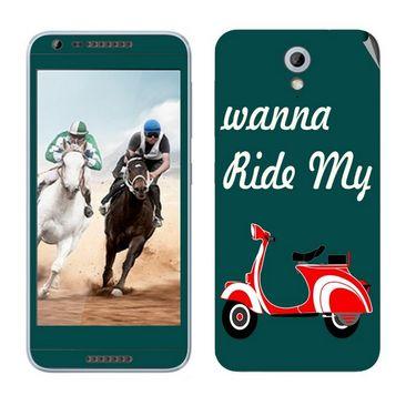 Snooky 28215 Digital Print Mobile Skin Sticker For HTC Desire 820 mini - Green