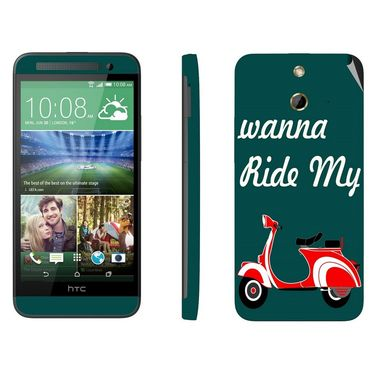 Snooky 28242 Digital Print Mobile Skin Sticker For HTC One E8 - Green