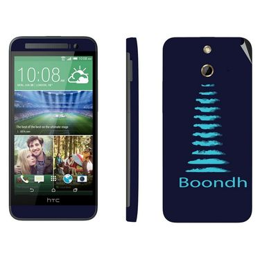 Snooky 28261 Digital Print Mobile Skin Sticker For HTC One E8 - Blue