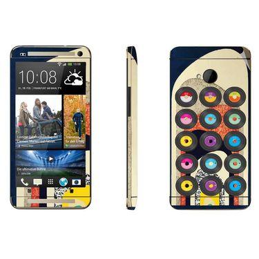 Snooky 28282 Digital Print Mobile Skin Sticker For HTC One M7 - Multi