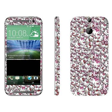 Snooky 28155 Digital Print Mobile Skin Sticker For HTC One M8 - Multi