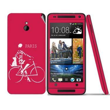 Snooky 28304 Digital Print Mobile Skin Sticker For HTC One mini - Pink