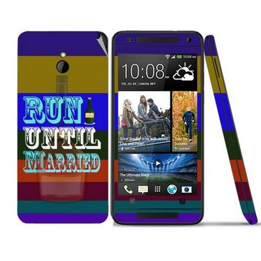Snooky 28291 Digital Print Mobile Skin Sticker For HTC One mini - Multi
