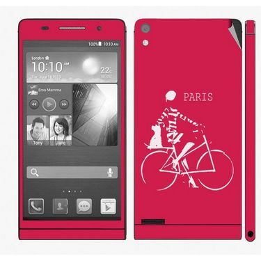 Snooky 28331 Digital Print Mobile Skin Sticker For Huawei Ascend P6 - Pink