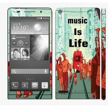 Snooky 28332 Digital Print Mobile Skin Sticker For Huawei Ascend P6 - Multi
