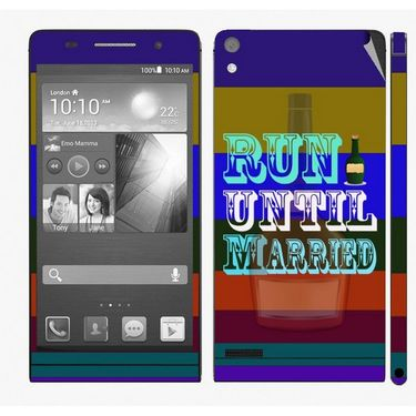 Snooky 28318 Digital Print Mobile Skin Sticker For Huawei Ascend P6 - Multi