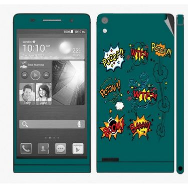 Snooky 28325 Digital Print Mobile Skin Sticker For Huawei Ascend P6 - Green
