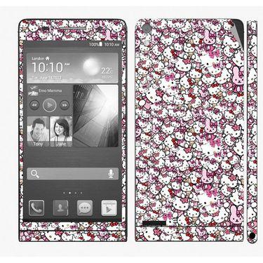 Snooky 28344 Digital Print Mobile Skin Sticker For Huawei Ascend P6 - Multi