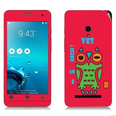 Snooky 27658 Digital Print Mobile Skin Sticker For Asus Zenfone 5 A501CG - Rose Pink