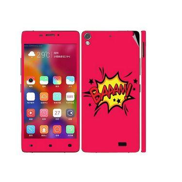 Snooky 27703 Digital Print Mobile Skin Sticker For Gionee Elife 5.1 - Pink