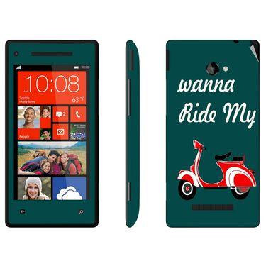 Snooky 28161 Digital Print Mobile Skin Sticker For HTC 8X C620E - Green