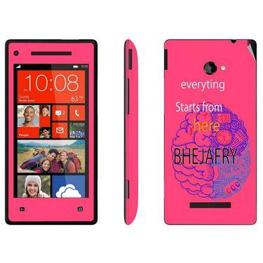 Snooky 28164 Digital Print Mobile Skin Sticker For HTC 8X C620E - Pink