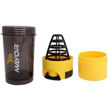 Mayor Hurricane Shaker Yellow & Black - 600 ml