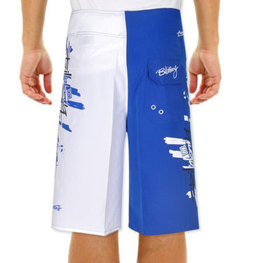 Billabong Poly Cotton  Printed Shorts_bysht2 - Royal Blue