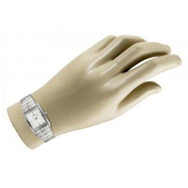 Titan Analog Rectangle Dial Watch_9151sm01 - White