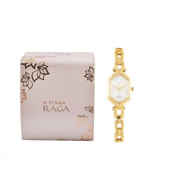 Titan Analog Hexagonal Dial Watch_2453ym04 - White