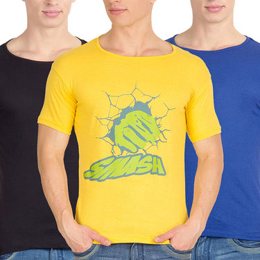 Pack of 3 Incynk Cotton T Shirts_Mhtc479