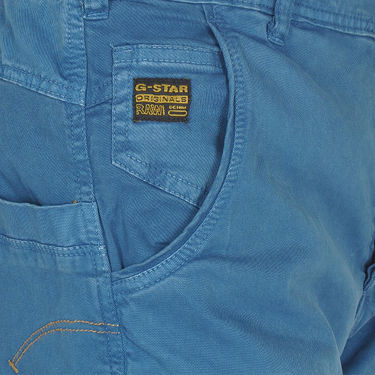 Branded Cotton Chinos_Gsblch - Blue