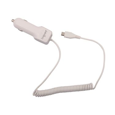 Livguard Dual USB with Cable Car Charger - White