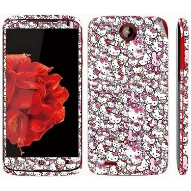Snooky 38766 Digital Print Mobile Skin Sticker For Lenovo S820 - Pink