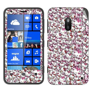Snooky 38788 Digital Print Mobile Skin Sticker For Nokia Lumia 620 - Pink