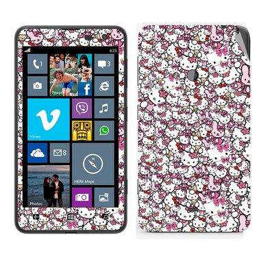 Snooky 38789 Digital Print Mobile Skin Sticker For Nokia Lumia 625 - Pink