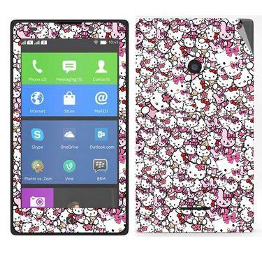 Snooky 38793 Digital Print Mobile Skin Sticker For Nokia XL - Pink