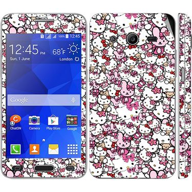 Snooky 38804 Digital Print Mobile Skin Sticker For Samsung Galaxy Core 2 - Pink