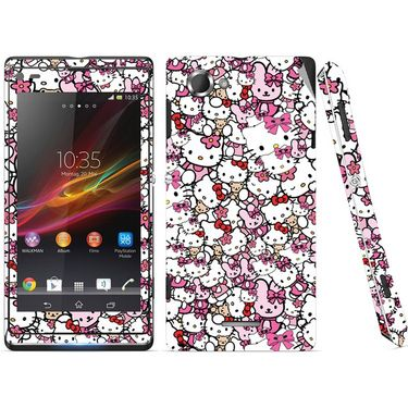Snooky 38823 Digital Print Mobile Skin Sticker For Sony Xperia L C2104 - Pink