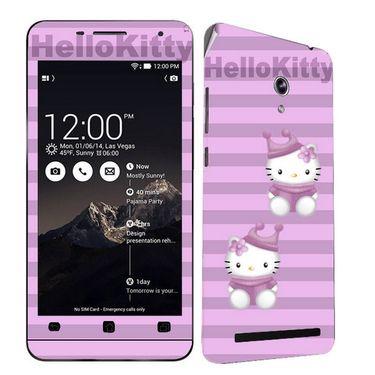 Snooky 38851 Digital Print Mobile Skin Sticker For Asus Zenfone 6 A600CG/A601CG - Purple