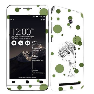 Snooky 38853 Digital Print Mobile Skin Sticker For Asus Zenfone 6 A600CG/A601CG - White